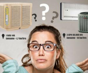 Conoces la diferencia entre un climatizador evaporativo y for Diferencia entre climatizador y aire acondicionado